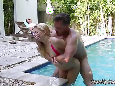 Mom and playfellows daughter fuck boss mother gives Summer Seduction