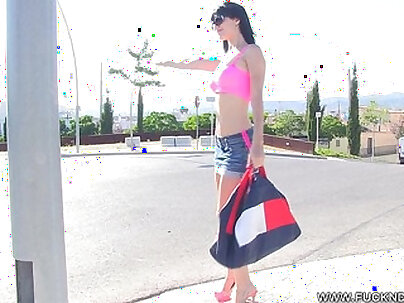 Hot Hitchhiker With Perfect Ass