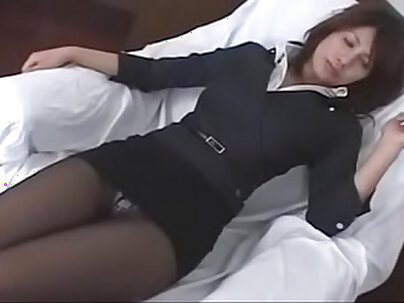 Attractive hottie Pantyhose masturbating in trip to Japan