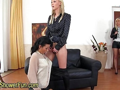 Lesbians Pissing All Over Her Swallower