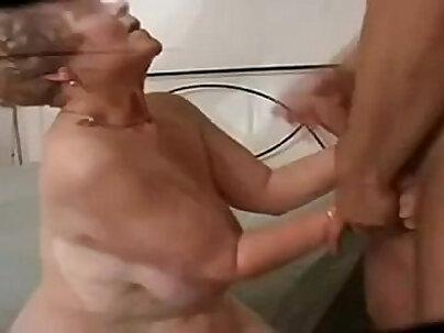German Big Butt Curvy Granny