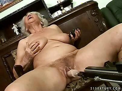 Chunky granny with big boobs interracial fucked