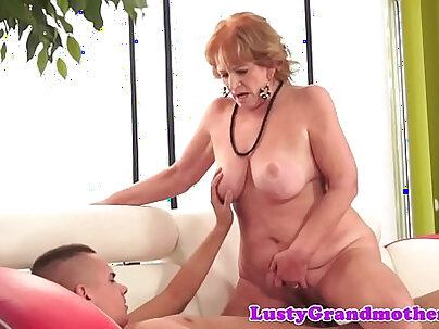 Chubby granny with nice body riding cock hard