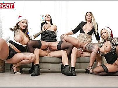 Blowjob among orgy Dorm Party
