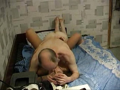 Russian amateur sex with two young cunt bride