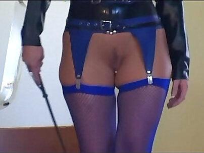 Cute Caroline gets fucked in stockings and heels